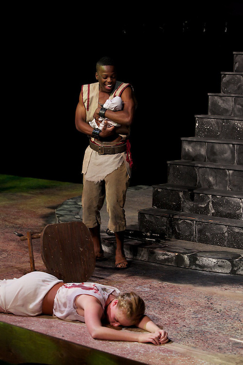 William Shakespeare's Titus Andronicus..Presented by the Montreal Shakespeare Theatre Company..Produced by Ace Lopes..Directed by Aaron George..Performed at The Monument National in Montreal, Canada, August 2011.