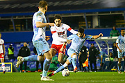 Liam Walsh of Coventry City(20) and Matt Crooks of Rotherham United (17) battle for the ball during the EFL Sky Bet League 1 match between Coventry City and Rotherham United at the Trillion Trophy Stadium, Birmingham, England on 25 February 2020.