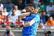 Hardik Pandya of India during the ICC Cricket World Cup 2019 match between Bangladesh and India at Edgbaston, Birmingham, United Kingdom on 2 July 2019.