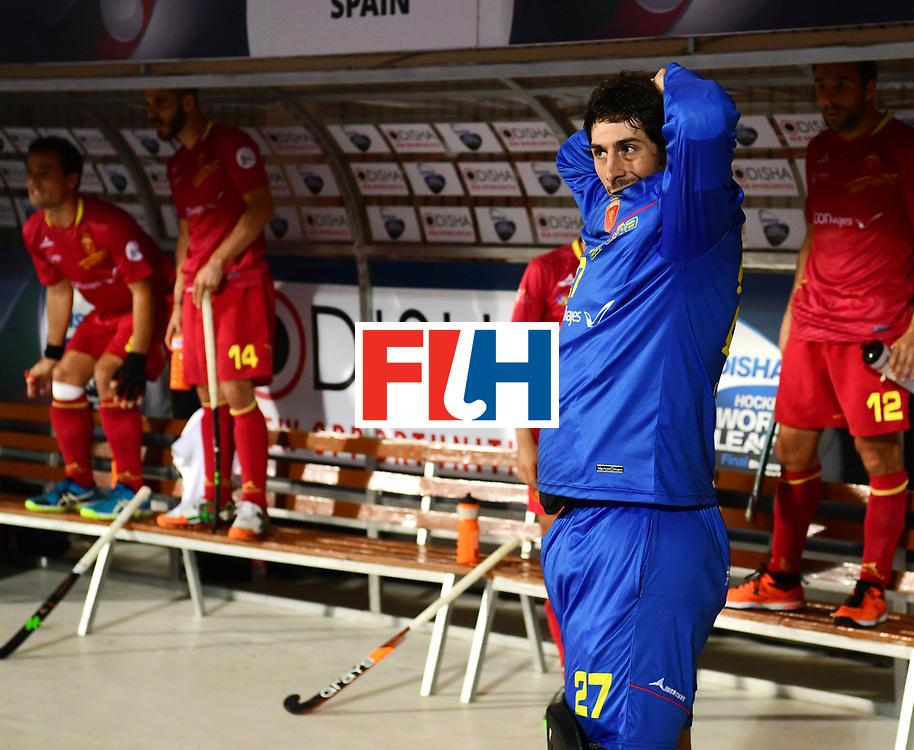 Odisha Men's Hockey World League Final Bhubaneswar 2017<br /> Match id:15<br /> Spain v Australia<br /> Foto: keeper Alvaro Floranes (Esp)  <br /> COPYRIGHT WORLDSPORTPICS FRANK UIJLENBROEK
