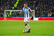 Huddersfield Town Defender Chris Lowe during the Premier League match between Huddersfield Town and Stoke City at the John Smiths Stadium, Huddersfield, England on 26 December 2017. Photo by Craig Zadoroznyj.