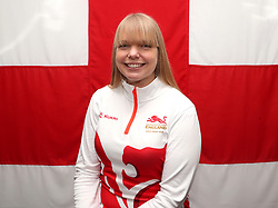 Team England' physio Claire Lawrence poses for a photo during the kitting out session at Kukri Sports HQ, Preston.