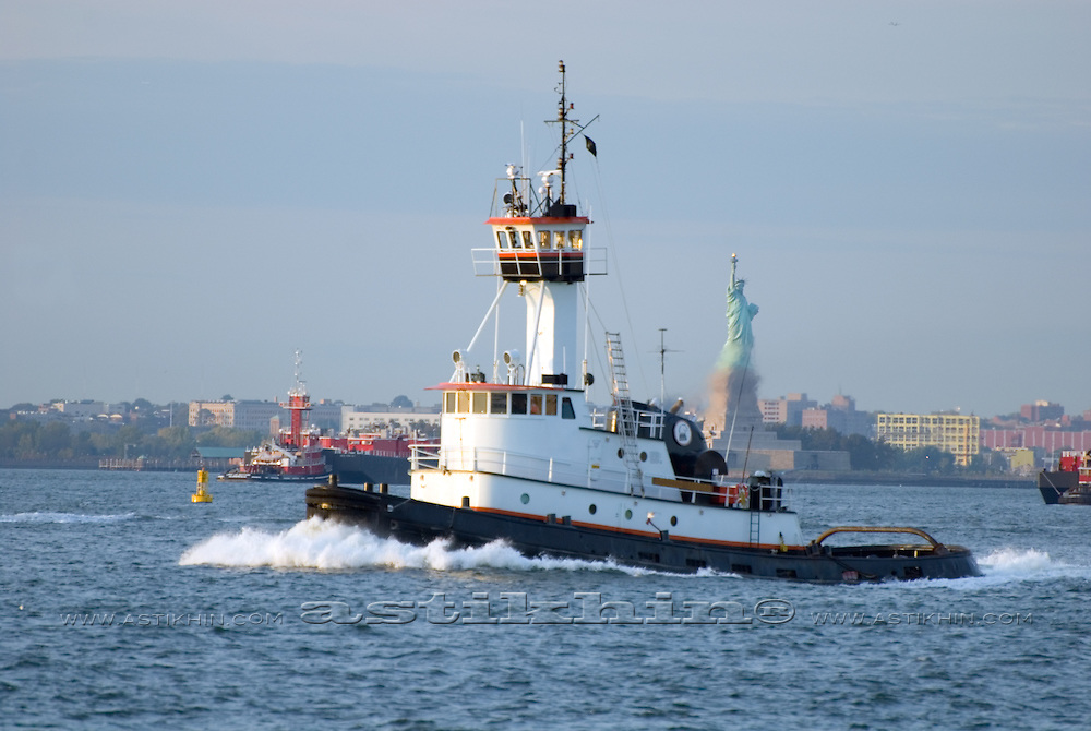 Statue of Liberty and Tugboat