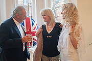 MARK SHAND; JOANNA LUMLEY; BASIA BRIGGS, Party given by Basia Briggs and Richard Briggs at their home in Chelsea. London. 14 May 2012