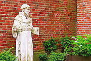 St. Francis of Assisi Garden at the Old North Church, Freedom Trail, Boston, Massachusetts