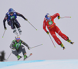 25.01.2014, Kreischberg, St. Georgen, AUT, FIS Weltcup Ski Cross, im Bild v.l.n.r. Marielle Thompson (CAN, 3. Platz), Ophelie David (FRA, 1. Platz), Fanny Smith (SUI, 2. Platz) // f.l.t.r. 3rd place 1st place Marielle Thompson of Canada, Ophelie David of France, 2nd place Fanny Smith of Switzerland in action during the FIS Ski Cross World Cup at the Kreischberg in St. Georgen, Austria on 2014/01/25. EXPA Pictures © 2014, PhotoCredit: EXPA/ Johann Groder