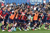 esultanza a fine gara Crotone celebration<br /> Crotone 09-04-2017, Stadio Stadio Ezio Scida, Football Calcio 2016/2017 Serie A, Crotone - Inter, Foto Image Sport/Insidefoto