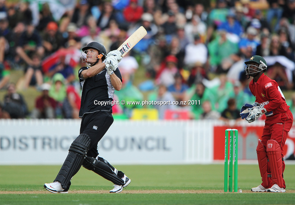 Rob Nicol during his innings of 146 at the 2nd ODI cricket match between New Zealand and Zimbabwe at Cobham Oval in Whangarei, Monday 6 February 2012. Napier, New Zealand. Photo: Andrew Cornaga/Photosport.co.nz