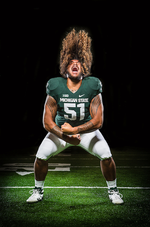 Promotional Athlete Portrait for Michigan State University Athletic Department.<br /> <br /> Photo Copyright: Matthew Mitchell Photography / MSU Athletic Communications