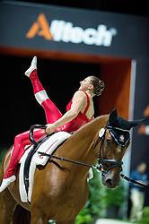 Simone Jaiser, (SUI), Luk, Rita Blieske - Individuals Women Compulsory Vaulting - Alltech FEI World Equestrian Games™ 2014 - Normandy, France.<br /> © Hippo Foto Team - Jon Stroud<br /> 02/09/2014