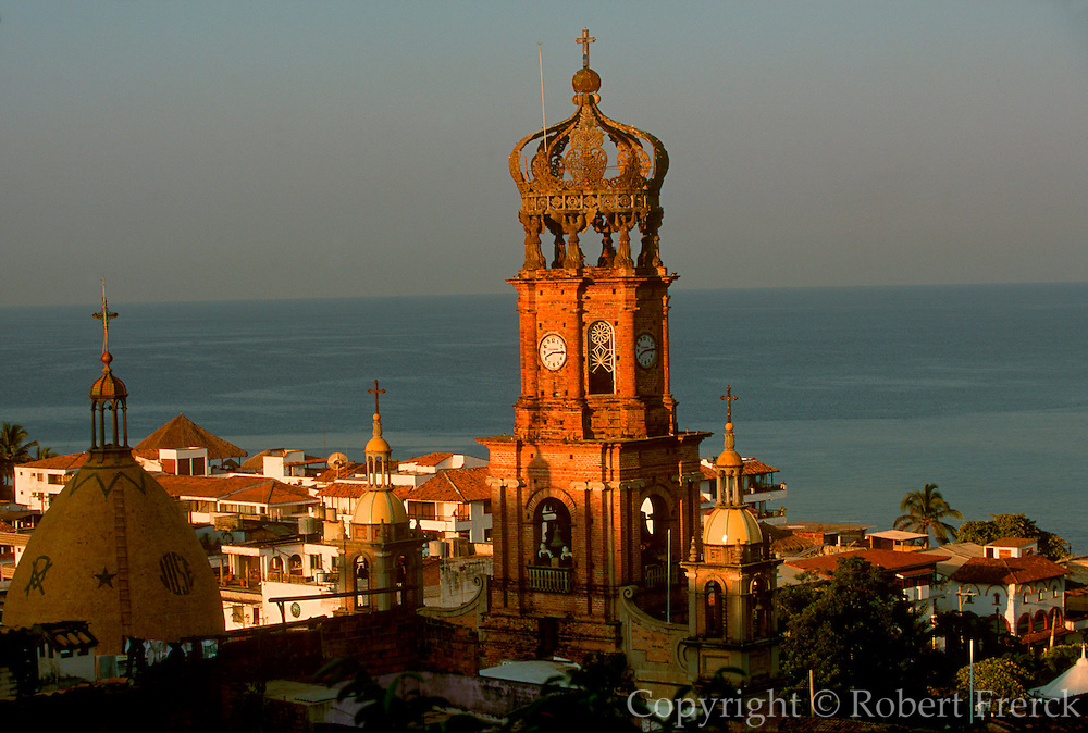 MEXICO, TOURISM Puerto Vallarta; Church belltower