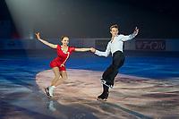 KELOWNA, BC - OCTOBER 24: Pairs gold medalists Dmitrii Kozlovskii and Aleksandra Boikova of Russia perform during the gala of Skate Canada International at Prospera Place on October 24, 2019 in Kelowna, Canada. (Photo by Marissa Baecker/Shoot the Breeze)