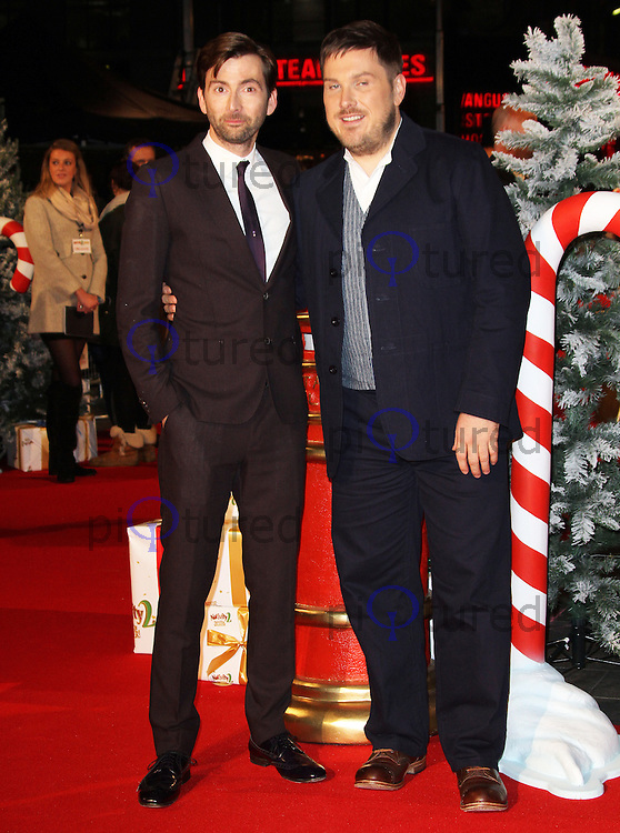 LONDON - NOVEMBER 13: David Tennant; Marc Wootton attended the World Film Premiere of 'Nativity 2: Danger In The Manger' at the Empire Cinema, Leicester Square, London, UK. November 13, 2012. (Photo by Richard Goldschmidt)