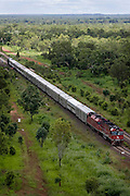 The Ghan.  The Ghan train near Katherine, Northern Territory, Australia. Image © Arsineh Houspian/Falcon Photo Agency.