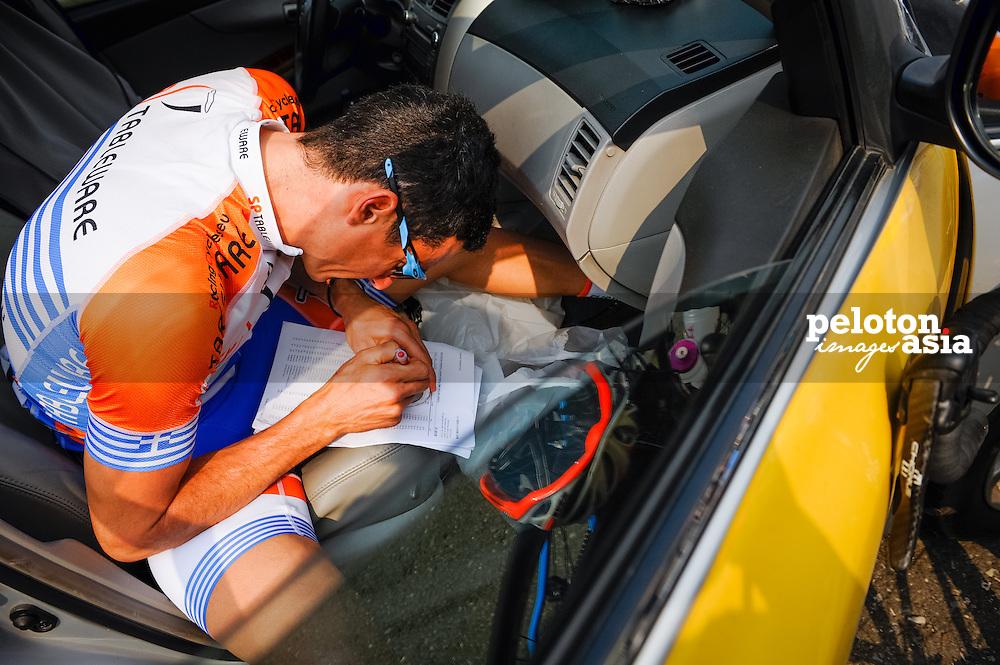 2014 Tour de Taiwan / stage5 / Taiwan / TAMOURIDIS Ioannis (GCE) / SP Tableware