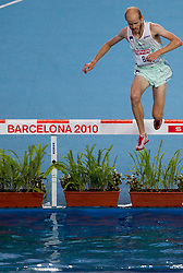 Bostjan Buc of Slovenia competes in the Mens 3000m Steeplechase Final during day six of the 20th European Athletics Championships at the Olympic Stadium on August 1, 2010 in Barcelona, Spain. (Photo by Vid Ponikvar / Sportida)