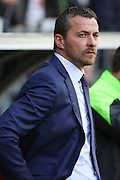 Fulham head coach, Slavisa Jokanovic looking on during the Sky Bet Championship match between Fulham and Bristol City at Craven Cottage, London, England on 12 March 2016. Photo by Matthew Redman.