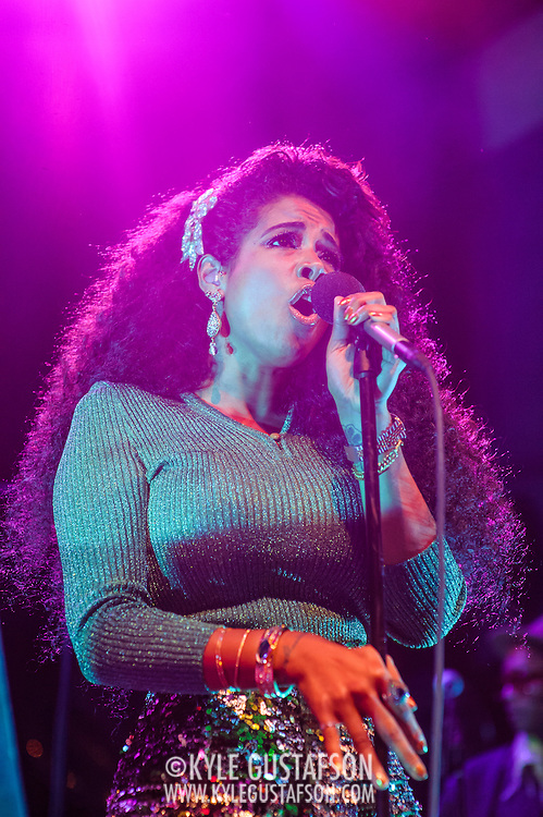 WASHINGTON, D.C. - June 15th, 2014 - R&B chanteuse Kelis performs at the 9:30 Club in Washington, D.C. Kelis recently starred in her own Cooking Channel special in addition to releasing her latest album, titled Food. (Photo by Kyle Gustafson / For The Washington Post)