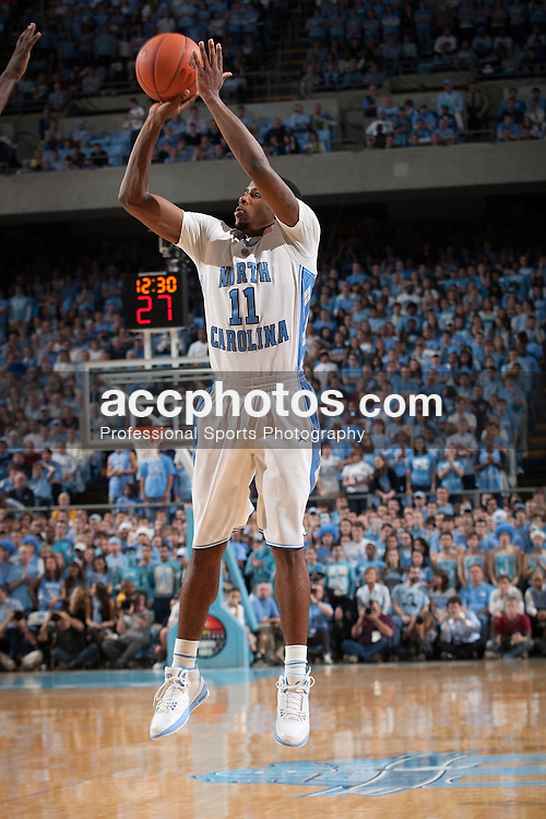 01 December 2009: North Carolina Tar Heels guard Larry Drew II (11) in an 82-89 win over the Michigan State Spartans at the Dean Smith Center in Chapel Hill, NC.