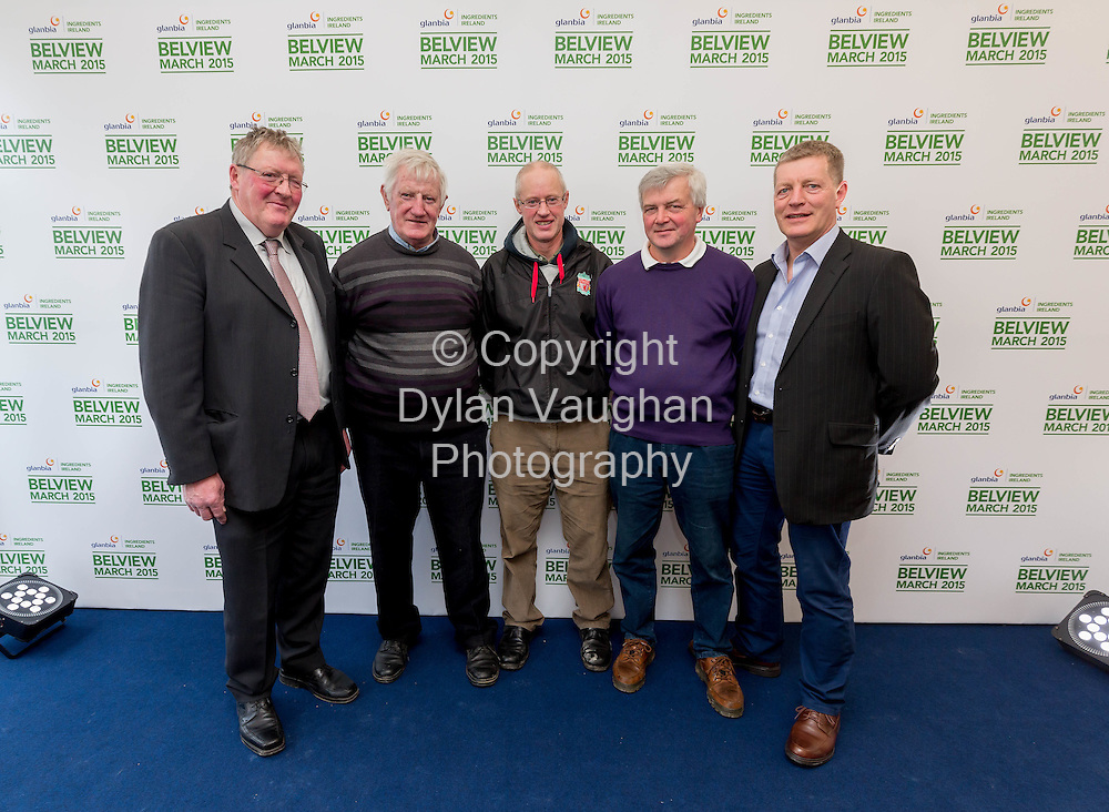 Repro Free No Charge for Repro<br /> 4-3-15<br /> Glanbia Farmer Representative's at the opening of the new Nutritional Ingredient's facility at Belview, from left Glanbia Director, Jer Dohney; Kieran Hoyne, Tullaroan; Michael Rowe, Clogh; James Walsh, Cullahill and Liam Phelan, Glanbia. <br /> <br /> <br /> Picture Dylan Vaughan.