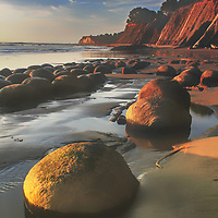 Bowling Ball Beach at low tide in winter, Mendocino County, California.