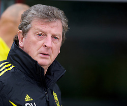 LIVERPOOL, ENGLAND - Wednesday, September 15, 2010: Liverpool's manager Roy Hodgson during a training session at Melwood Training Ground ahead of the opening UEFA Europa League Group K match against FC Steaua Bucuresti. (Photo by David Rawcliffe/Propaganda)