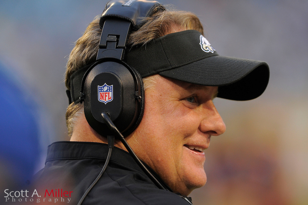 Philadelphia Eagles head coach Chip Kelly during a preseason NFL game against the Jacksonville Jaguars at EverBank Field on Aug. 24, 2013 in Jacksonville, Florida. The Eagles won 31-24.<br /> <br /> &copy;2013 Scott A. Miller