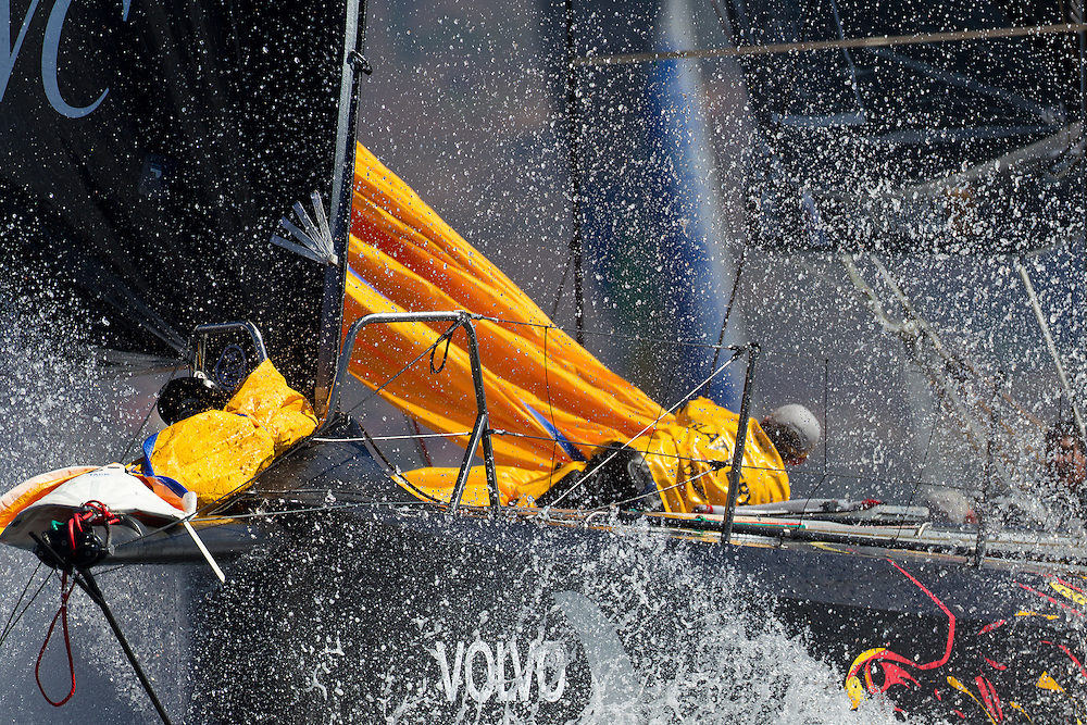 SOUTH AFRICA. 10th December 2011. Volvo Ocean Race. V and A Waterfront In Port Race. Abu Dhabi Ocean Racing.
