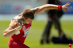 Igor Sarcevic of Serbia competes in the Mens Decathlon Shot Put during day two of the 20th European Athletics Championships at the Olympic Stadium on July 28, 2010 in Barcelona, Spain. (Photo by Vid Ponikvar / Sportida)