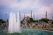 Turkey, Istanbul, Sultanahmet. Blue Mosque (Sultan Ahmed Mosque)