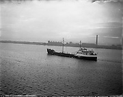 'Brilliant' Coal Boat departure from Alexandra Basin .02/12/1958 .