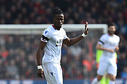 Wilfried Zaha (11) of Crystal Palace during the Premier League match between Bournemouth and Crystal Palace at the Vitality Stadium, Bournemouth, England on 7 April 2018. Picture by Graham Hunt.