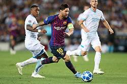 September 18, 2018 - Barcelona, Catalonia, Spain - Lionel Messi of FC Barcelona in action during the UEFA Champions League, Group B football match between FC Barcelona and PSV Eindhoven on September 18, 2018 at Camp Nou stadium in Barcelona, Spain (Credit Image: © Manuel Blondeau via ZUMA Wire)