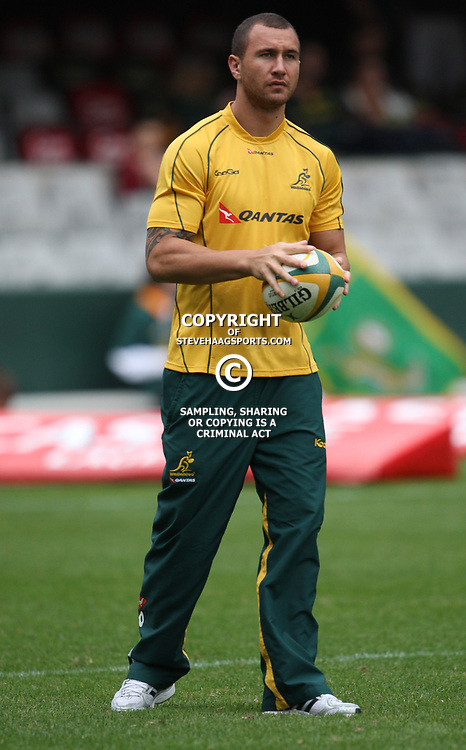 DURBAN, SOUTH AFRICA - AUGUST 13, Quade Cooper during the Castle Lager Tri Nations match between South Africa and Australia at Mr Price Kings Park Stadium on August 13, 2011 in Durban, South Africa<br /> Photo by Steve Haag / Gallo Images