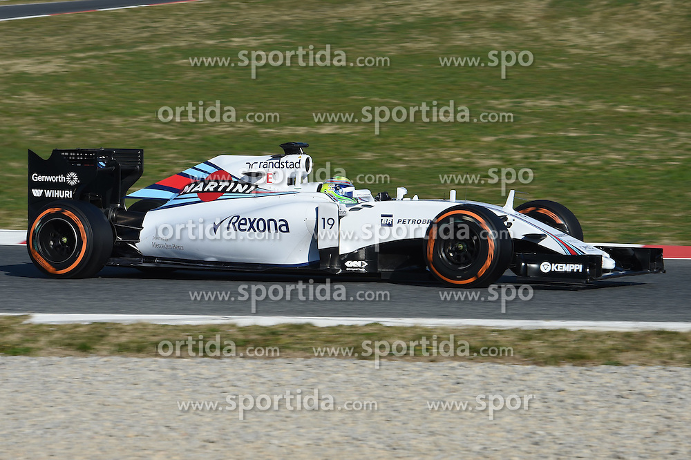 28.02.2015, Circuit de Catalunya, Barcelona, ESP, FIA, Formel 1, Testfahrten, Barcelona, Tag 3, im Bild Felipe Massa (BRA) Williams FW37 // during the Formula One Testdrives, day three at the Circuit de Catalunya in Barcelona, Spain on 2015/02/28. EXPA Pictures &copy; 2015, PhotoCredit: EXPA/ Sutton Images/ Mark Images<br /> <br /> *****ATTENTION - for AUT, SLO, CRO, SRB, BIH, MAZ only*****