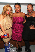 30 November 2010- New York, NY- l to r: Sharisse Mills, Chrisette Michele, Shenelle at Chrisette Michele's Let Freedom Reign Tea Party ' held at 8 Bond Studio on Novemebr 30, 2010 in New York City. Photo Credit: Terrence Jennings