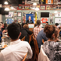 Jay McCollum, the Rotary Club's Senior of the Year Chairman for the 2018-2019 school year presented the Rotary scholarships Wednesday, May 1 at the Senior of the Year luncheon at Sammy C's in Gallup.
