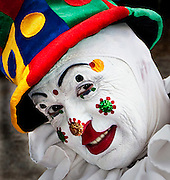 Clown smiling Cooper Young Festival