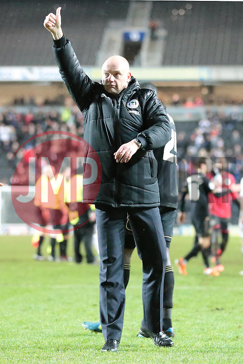 Wigan Athletic Manager, Uwe Rosler - Photo mandatory by-line: Nigel Pitts-Drake/JMP - Tel: Mobile: 07966 386802 14/01/2014 - SPORT - FOOTBALL - Stadium MK - Milton Keynes - MK Dons v Wigan Athletic - FA Cup - Third Round replay