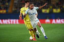 March 14, 2019 - Vila-Real, Castellon, Spain - Gerard Moreno of Villarreal CF and Hernani Azevedo Junior of Zenit Saint Petersburg during the Uefa Europa League round of 16 second leg match between Villarreal and Zenit Saint Petersburg at Estadio de la Ceramica on March 14, 2019 in Vila-real Spain. (Credit Image: © AFP7 via ZUMA Wire)