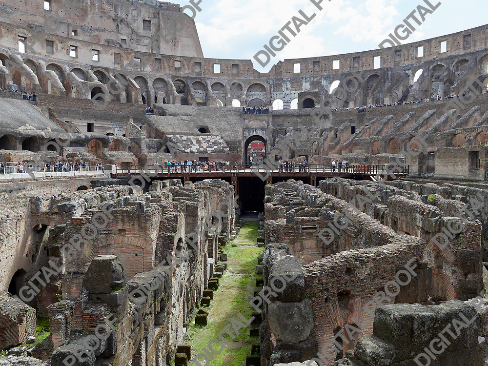 View of Colosseum underground halls