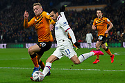 Jarrod Bowen of Hull City battles with Pedro of Chelsea during the The FA Cup match between Hull City and Chelsea at the KCOM Stadium, Kingston upon Hull, England on 25 January 2020.