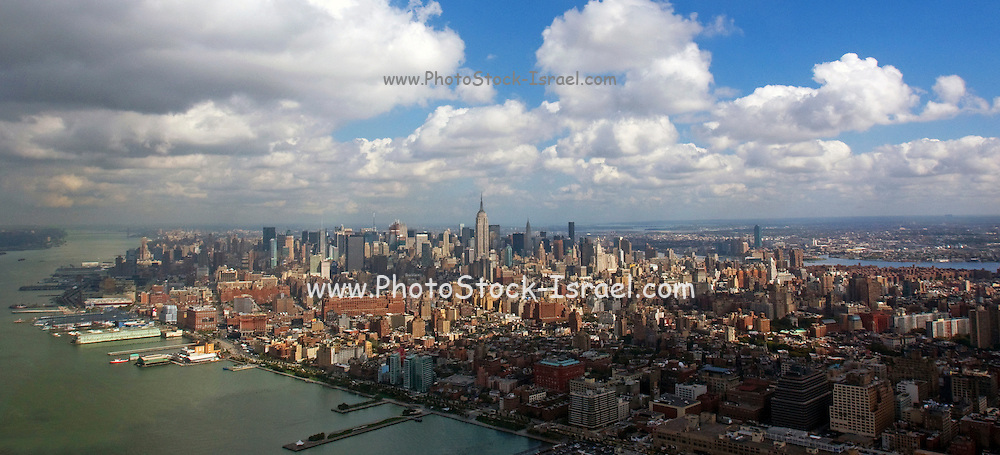 USA, NY, New York City, Aerial view of Manhattan