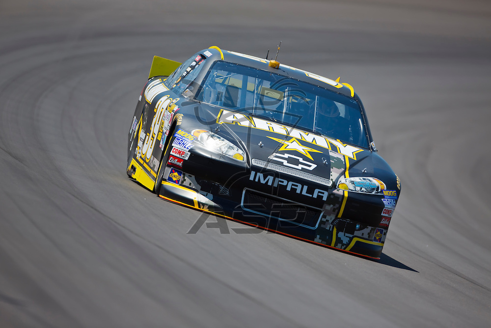 BROOKLYN, MI - JUN 14, 2012:  Ryan Newman (39) brings his car through the turns during the second test session for the Quicken Loans 400 at the Michigan International Speedway in Brooklyn, MI.