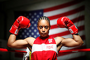 6/24/11 2:34:06 PM -- Colorado Springs, CO. -- A portrait of U.S. Olympic lightweight boxer Queen Underwood, 27, of Seattle, Wash. who will be competing for her fifth title. She began boxing in 2003 and was the 2009 Continental Champion and the 2010 USA Boxing National Champion. She is considered a likely favorite to medal at the 2012 Summer Olympics in London as women's boxing makes its debut as an Olympic sport. -- ...Photo by Marc Piscotty, Freelance.