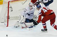 Florient Hardy / Tomas Hertl - 07.05.2015 - Republique Tcheque / France - Championnat du Monde de Hockey sur Glace <br />Photo : Xavier Laine / Icon Sport