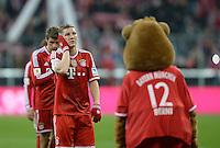 Fussball  1. Bundesliga  Saison 2013/2014  25. Spieltag FC Bayern Muenchen - Bayer Leverkusen       15.03.2014 Bastian Schweinsteiger (FC Bayern Muenchen) nachdenklich