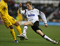 Photo: Pete Lorence.<br />Derby County v Bristol Rovers. The FA Cup. 27/01/2007.<br />Seth Johnson charges into the penalty area.