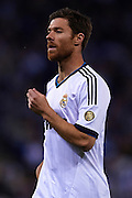 BARCELONA, SPAIN - MAY 11: Xabier Alonso of Real Madrid CF looks on during the Liga BBVA between RCD Espanyol and Real Madrid CF at the Cornella-El Prat Stadium on May 11, 2013 in Barcelona, Spain. (Photo by Aitor Alcalde Colomer).