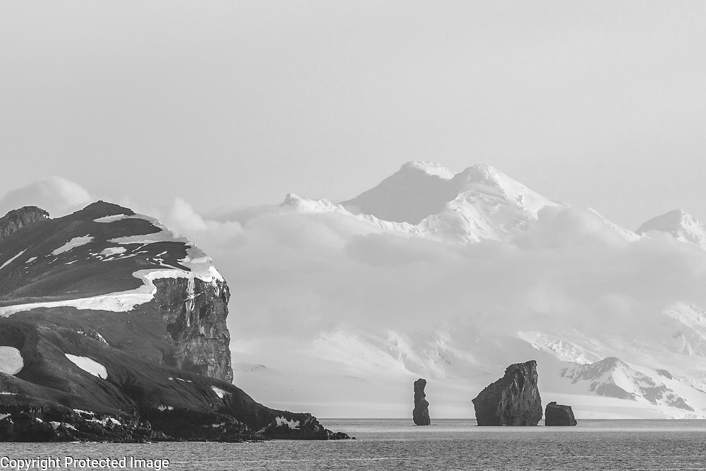 Volcanic formations and mountains, Deception Island, Antarctica  2014